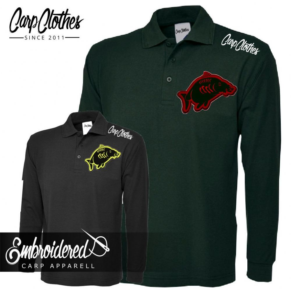 013 EMBROIDERED CARP LS POLO